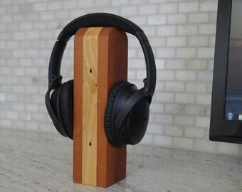 Wood Headset Stand, The Reclaimed, Headphone Holder, Headset Stand, Headset Holder