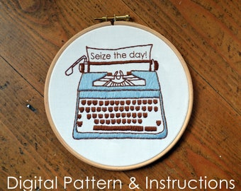Digital Embroidery Pattern and Instructions