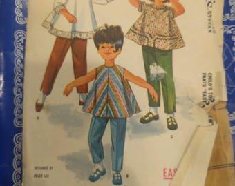 1960s McCalls Pattern 6253, Vintage McCalls Pattern, Kids vintage sewing pattern, children's vintage pattern