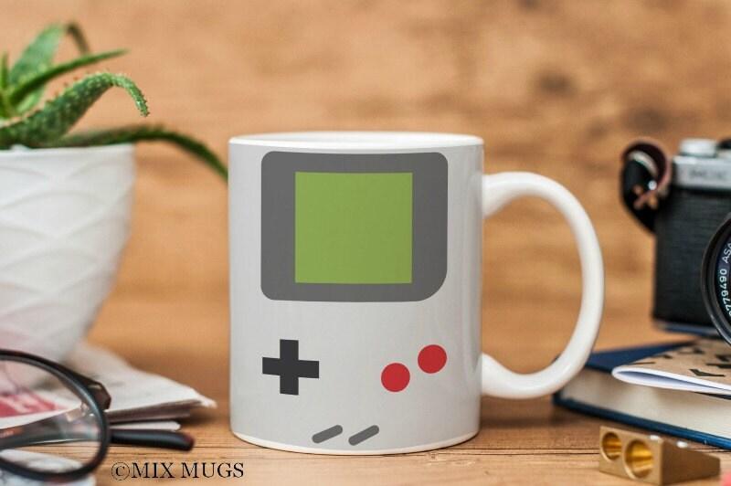 gameboy mug video game mug gamer mug gamer gifts nerd mug