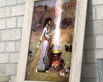 Magic Circle (The Witch) by John William Waterhouse - 11x14 Unframed Art Print - Great Gift for Art Lovers