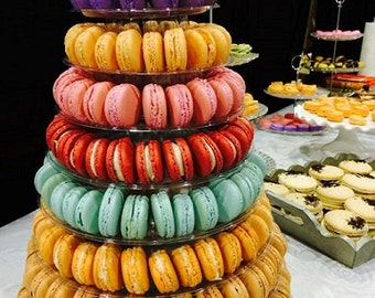 SAVE 10%, french macaron tower, wedding macaron tower, wedding party favor, macarons for event,
