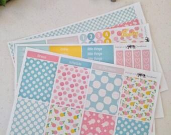 Pink Lemonade - Vertical Weekly - Planner Sticker Kit - Matte Planner Stickers