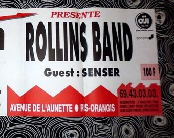 1994 Rollins Band+Senser affiche concert originale
