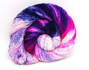"""Hardcore Sock Yarn - """"Neon Lotus"""" - Handpainted Superwash Merino - 463 Yards"""