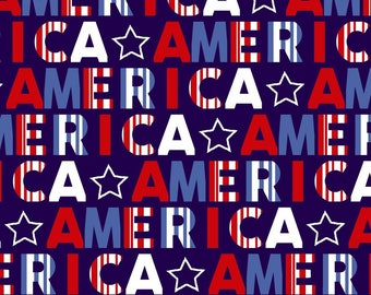 Red, White, and Starry from Studio E Fabrics - Full or Half Yard America Red White Blue - 4th of July - Independence Day