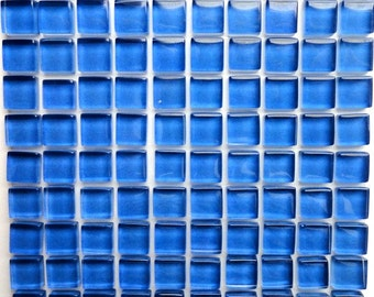 "100 (10mm) MINI Periwinkle Blue Crystal Glass Mosaic Tiles, 3/8""// Mosaic Supplies// Crafts"