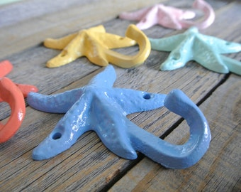 Starfish Hook, Cast Iron Starfish Hook, Nautical Hook, Beach Hook, Towel Hook
