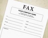 Fax Cover Sheet Printable...