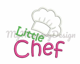 Little Chef Hat Embroidery Design   Cook Hat Applique Design   Girl  Embroidery   Machine Embroidery
