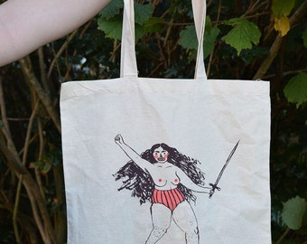 WARRIOR WOMAN tote bag