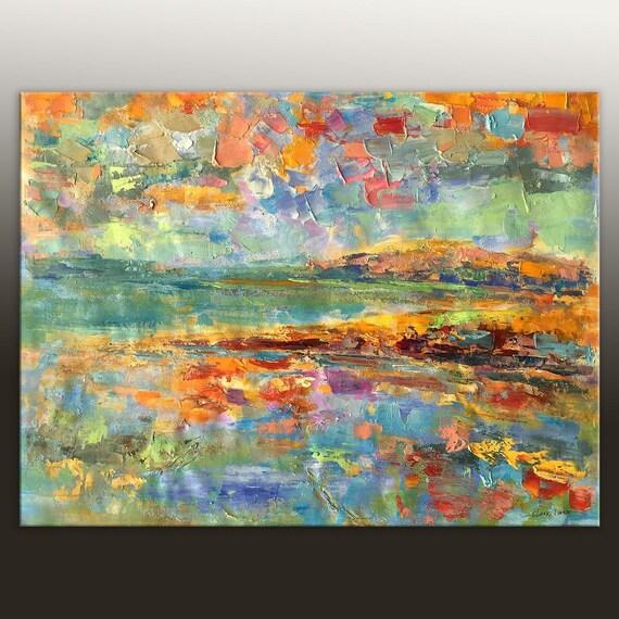 Moderne Malerei Original abstrakte Kunst abstrakte Leinwand