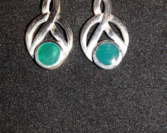 Hand crafted Sterling Silver Celtic Earrings (e08)