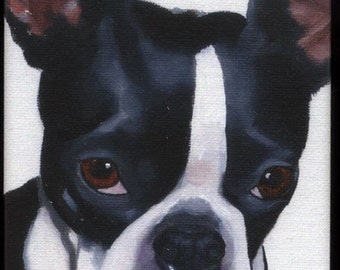 Boston Terrier cute magnet, boston terrier gift, boston terrier art