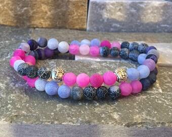Buddha bracelet agate mala bracelet Buddha