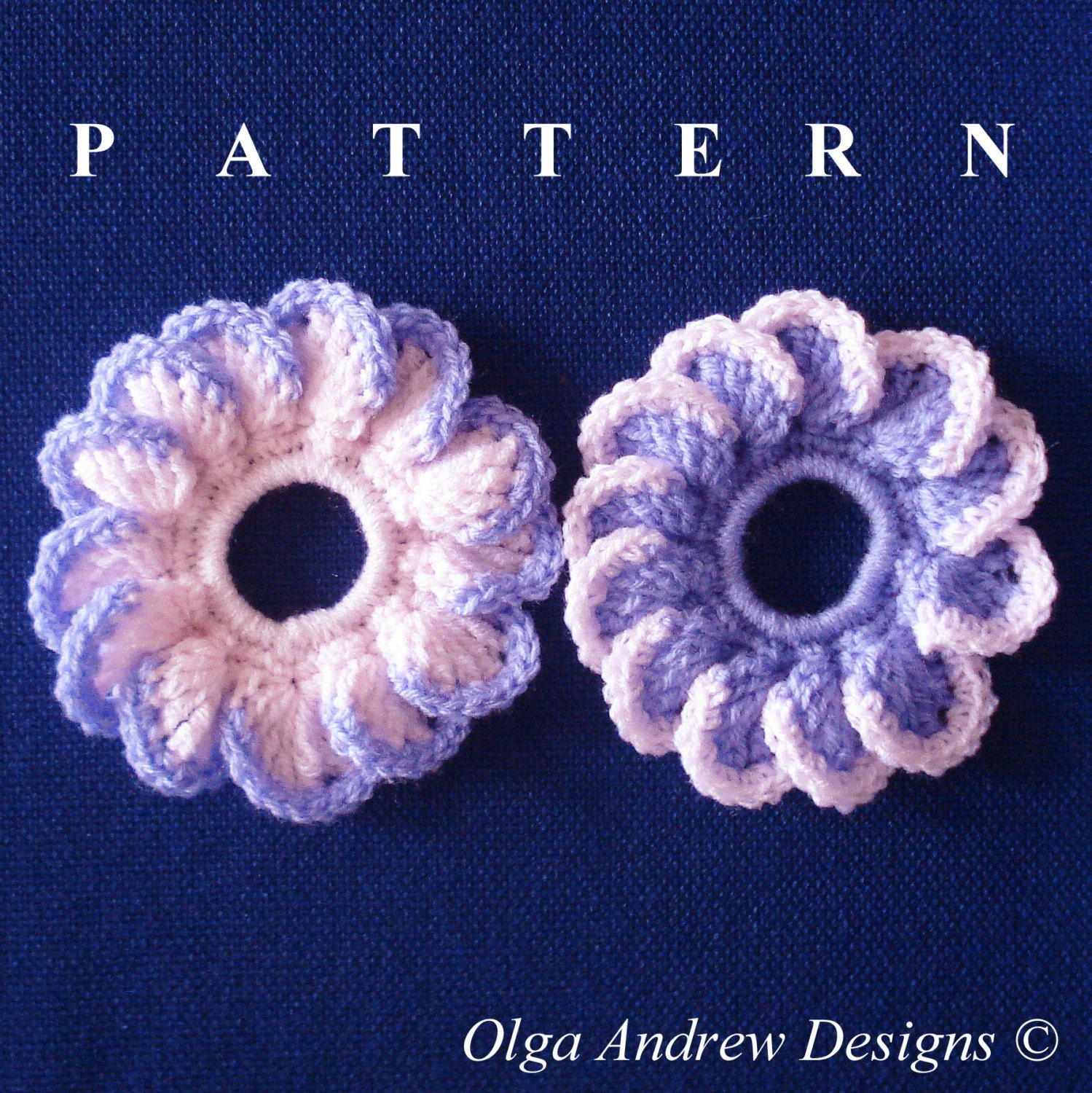 Flower scrunchie crochet pattern scrunchie crochet accessories