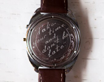 Engravable watch, Personalized watch, Engraved watch, Engraving watch, Mens watch, Mechanical watch ,Russian watch