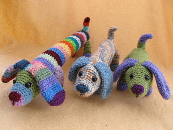 Amigurumi Wiener Dog Pattern : Fetch the dog crochet amigurumi pattern