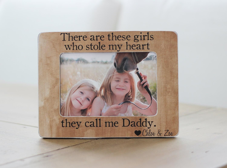 Vater Geschenk personalisierte Bilderrahmen diese Mädchen die