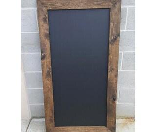 Large Chalkboard, Rustic Framed Chalkboard, Restaurant, Menu Sign, Business Sign, Wedding Sign, Menu Board, Mother's Day, Rustic Wedding