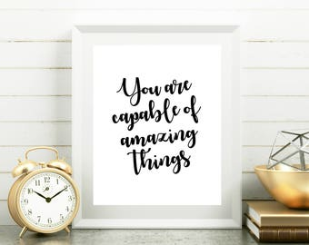 Graduation printable Encouraging quotes Inspirational art Positive inspiration Graduation college Daughter gift, New beginning Dorm wall art