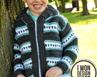 Dylan Child Cardigan Crochet Pattern pdf
