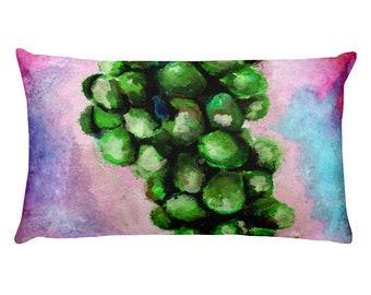 Green Grapes Rectangular Pillow