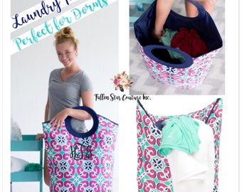 IN STOCK College Dorm Laundry tote , freshman dorm room , laundry bin , personalized laundry bin , monogrammed laundry bag, graduation gift