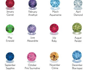 Reserved Listing - Request for Add On Birthstones
