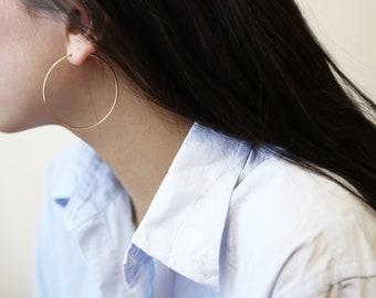 Endless Gold Hoop Earrings // 14K Gold filled Hoop Earrings // Everyday Big hoops Earrings // Gifts for her