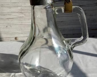 Vintage A.K.O.Products Syrup Pitcher Shaped Like a Light Bulb