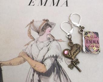 SteamPunk Jane Austen's Emma Earrings