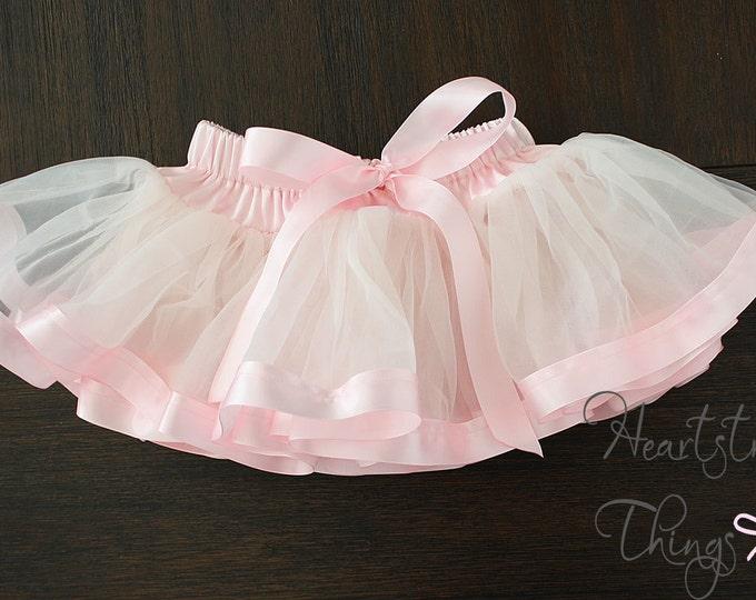 Ribbon Skirt, Pink Skirt, Pink tutu, Baby tutu, soft skirt, fluffy skirt, Vintage Pink, blush Pink, Cake smash, first birthday outfit