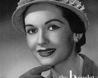 The Bouclet Hat  - 1940s Vintage Crochet Hat Pattern - PDF eBook