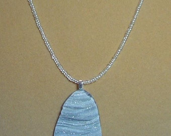 """Sparkinlg shades of grey DRUZY crystal stone pendant necklace - 20"""" - N084"""