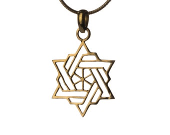 Star Of David Pendant - Necklace Spiritual jewellery Judaica Jewellery Handmade Free UK delivery BP1