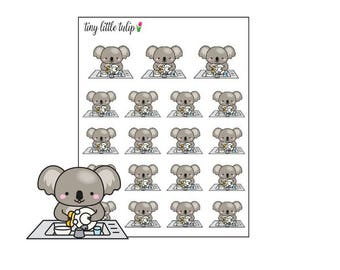 Planner Stickers Koala Washing Dishes