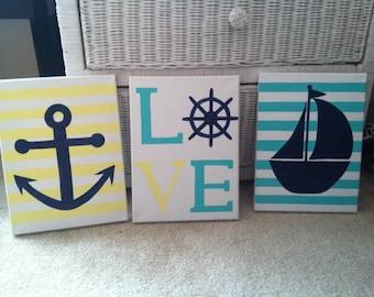 Nautical Acrylic Canvas (Set)