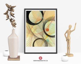 Stixy 2 – Mid Century Abstract Contemporary Modern Art Giclée Print