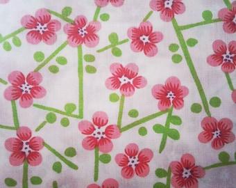 FABRIC : Cotton Blend Cherry Blossom Fabric