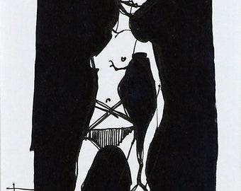 Emerge - A one off, original, mounted artwork by Margaretann Bennett