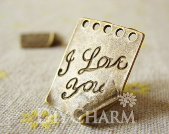 A Love Letter For Your Dear With Deep Love 20x25mm - 10Pcs - DC23876