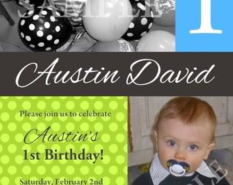 Custom Birthday Photo Invitation for Girl or Boy