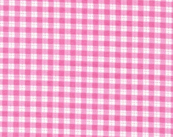 Cuddle Prints Pink Gingham Flannel from Fabri-Quilt by the yard