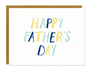 Father's Day Letterpress Card