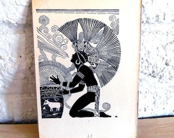 Don Blanding Illustration Hawaiian or South American Native taken from a book