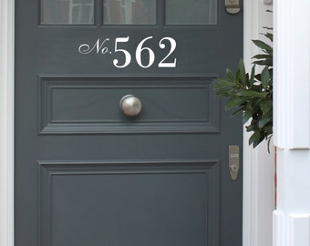 Front Door Number Decal - Vinyl Number Door Decal - Custom Door Number - Front Door Personalised Wall Art