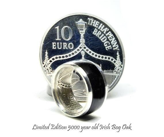 Irish Wedding Ring 5000 Year Old Bog Oak Wood Ring Limited