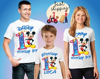 Mickey party shirts, Shirts Minnie Mouse, Birthday Boy, Mickey party shirts, Personalized shirts, Gift for girl, birthday gift B110