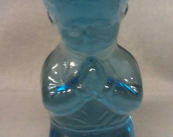 Tiara Glass Blue Boy Paperweight